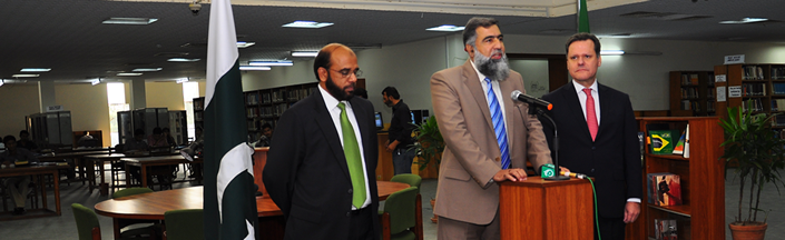 Brazilian Corner inaugurated at Quaid-i-Azam University Central Library