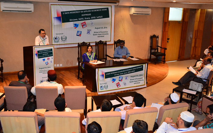 5 Days workshop on Applied Economics inaugurates at School of Economics, QAU