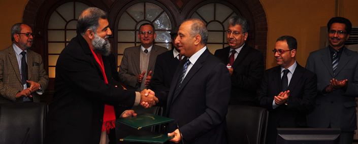 MoU signed between the University of Jordan and QAU on Academic Collaboration