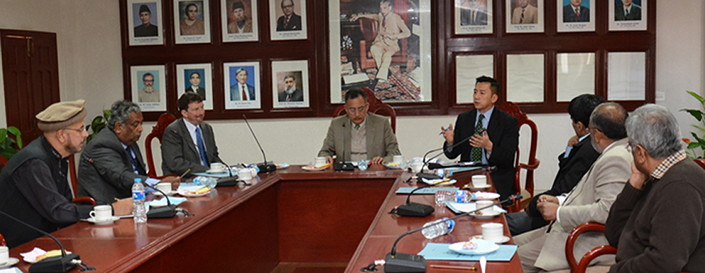 US Delegation Visits QAU to Discuss Intellectual Property Rights and their Role in Economic Development
