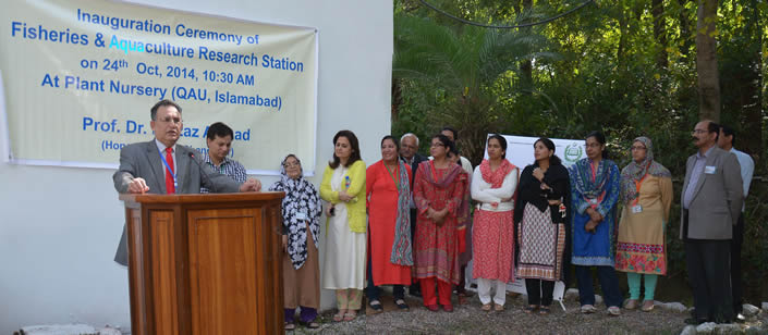 Fisheries and Aquaculture Research Station Inaugurated at QAU